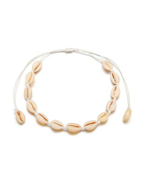 Collier Ras-du-Cou Coquille - Blanc Chaud  Mobile