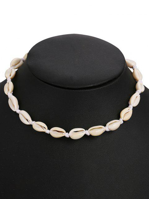 new Cowrie Shell Faux Pearl Necklace - WHITE  Mobile