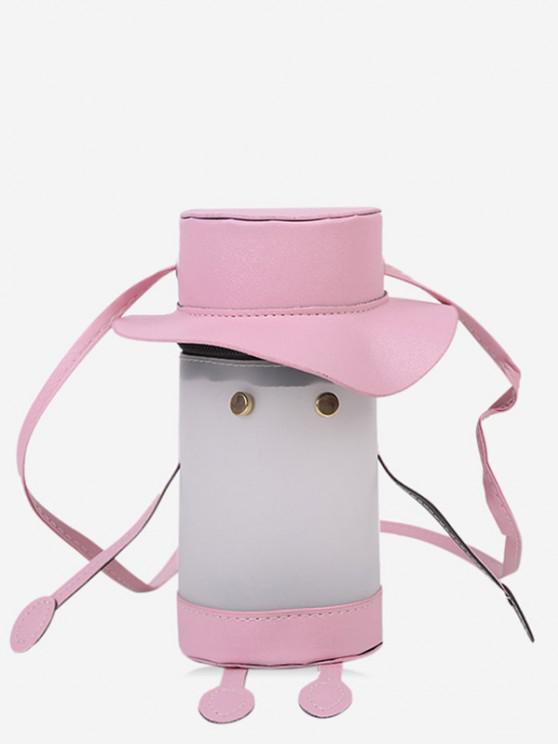 outfit Cartoon Cylinder Crossbody Bag - PIG PINK