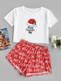 Merry Christmas Funny Two Piece Set - White L