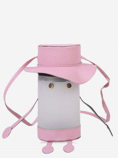 Cartoon Cylinder Crossbody Bag - Pig Pink