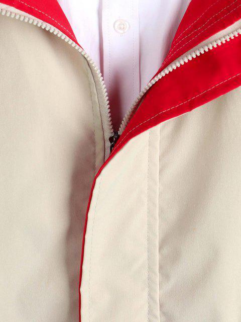 Veste à Capuche Zippée avec Poches à Cordon - Kaki XS Mobile