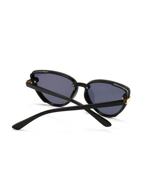 outfit Charm UV Protection Mental Sunglasses - BLACK  Mobile