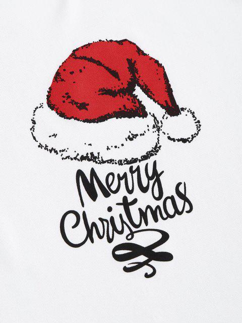 Frohe Weihnachten Lustige Zweiteiliges Set - Weiß XL Mobile