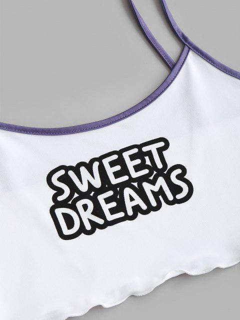 new Sweet Dreams Moon Funny Two Piece Set - PURPLE XL Mobile