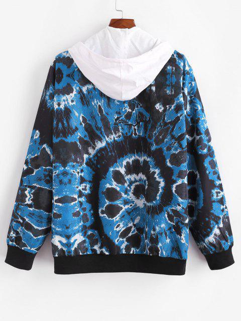 Veste Teintée Tourbillon Imprimée avec Bouton Pression - Bleu M Mobile