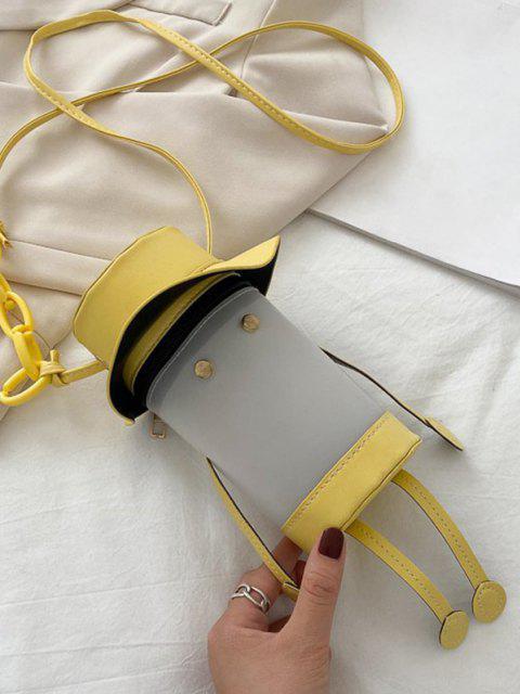 new Cartoon Cylinder Crossbody Bag - SUN YELLOW  Mobile