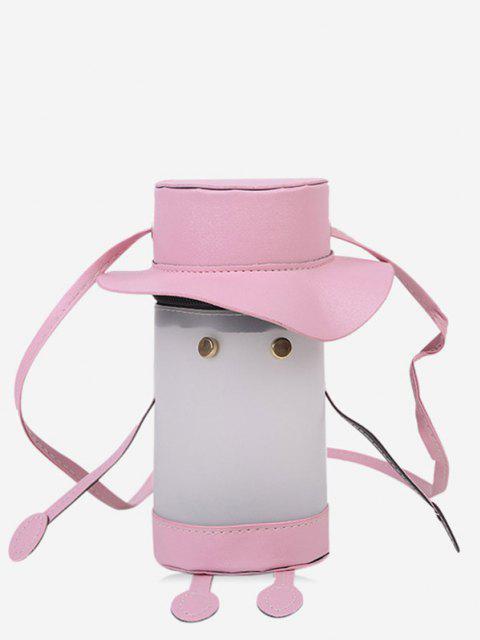 outfit Cartoon Cylinder Crossbody Bag - PIG PINK  Mobile