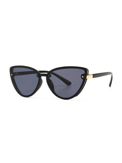 Charm UV Protection Mental Sunglasses - Black