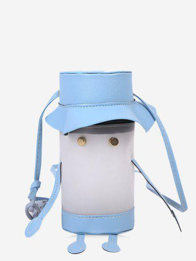 Cartoon Cylinder Crossbody Bag - Light Sky Blue