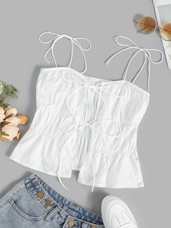 buy Ties Ruched Tiered Cami Top - WHITE M