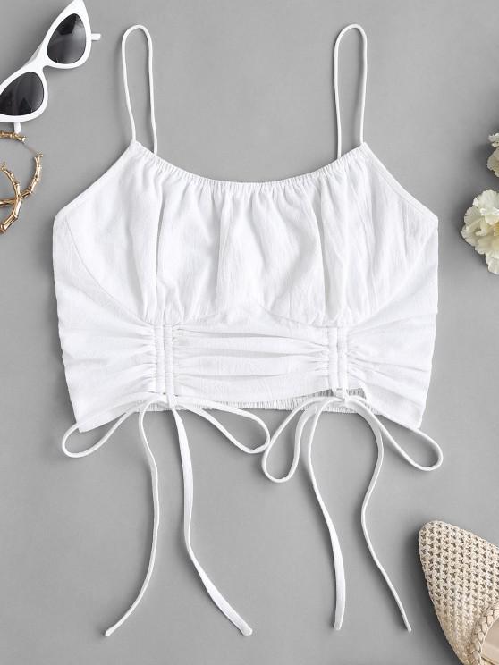 Gebundener Kittel Cami Top - Weiß XL