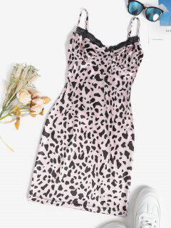 Leopard Bloßes Ineinander Greifen Mit Netzfutter - Hell-pink S