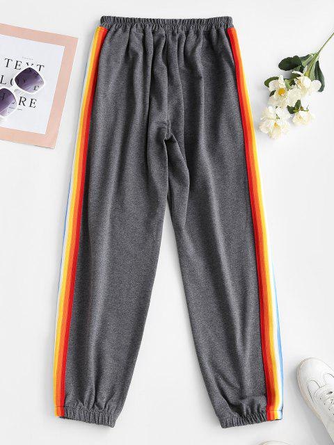 shop Side Striped Jogger Sweatpants - GRAY S Mobile