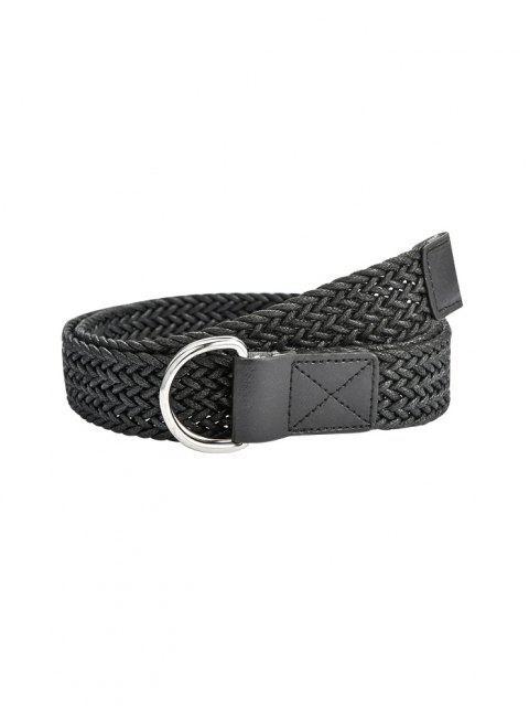 Cinturón Trenzado Anillo Doble - Negro  Mobile