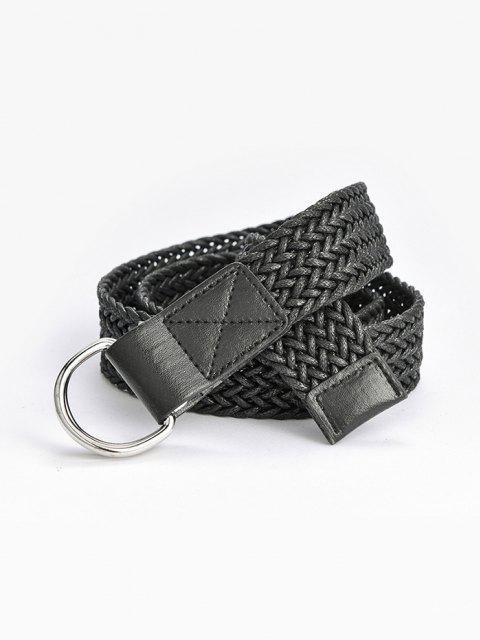 online Double Ring Braided Belt - BLACK  Mobile