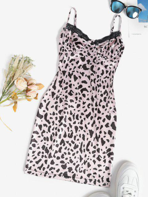 Leopard Bloßes Ineinander Greifen mit Netzfutter - Hell-Pink M Mobile
