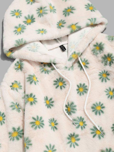 Moletom com capuz justinho com estampa de Margarida - Luz amarela XL Mobile