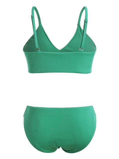 Bikini Taglia Forte a Costine di ZAFUL - Verde chiaro XXXXL Mobile