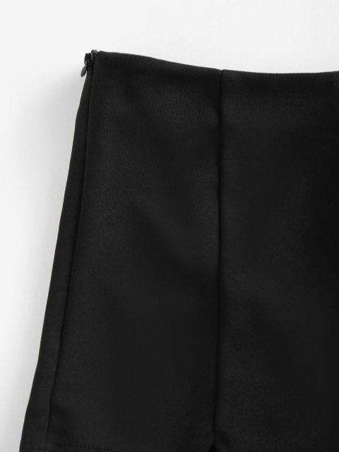 unique ZAFUL V Notched Skinny Zipper Side Shorts - BLACK M Mobile