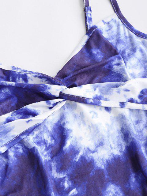 new Tie Dye Twisted Bodycon Cami Dress - BLUE XS Mobile