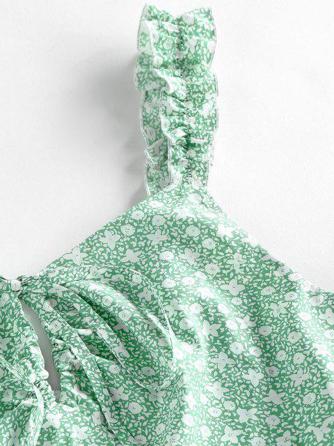 Vestito a Fiorellini con Fiocco di ZAFUL - Giglio di Blu Pallido M Mobile