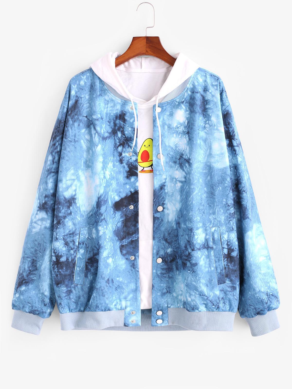 Zaful Tie Dye Print Jacket