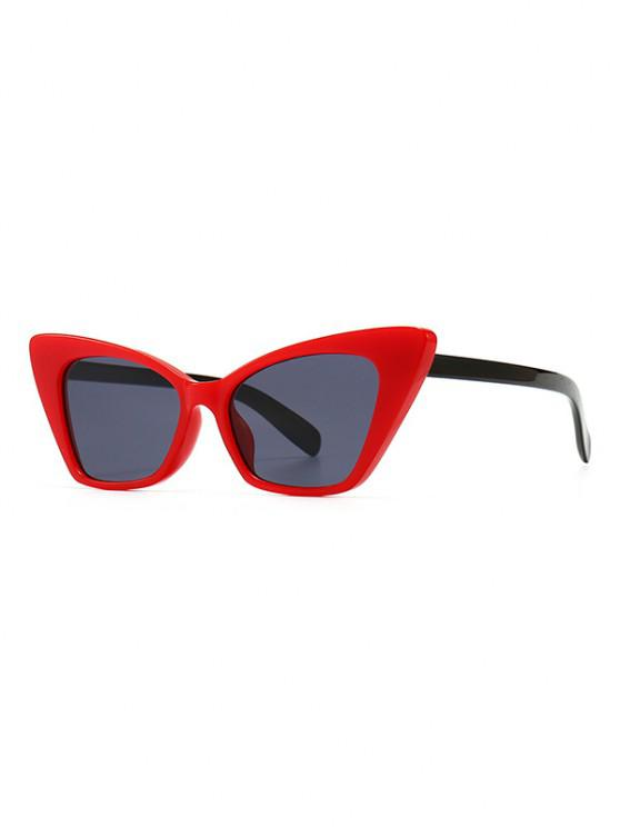 fancy Full Frame Animal Eye Sunglasses - RED