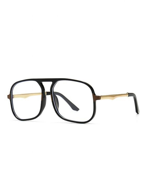 best Oversized Anti Blue Light Square Glasses - BLACK