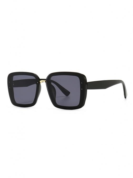 new Full Frame Retro Square Sunglasses - BLACK