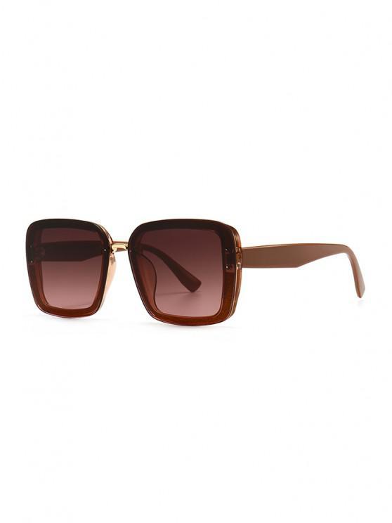 outfit Full Frame Retro Square Sunglasses - SEPIA