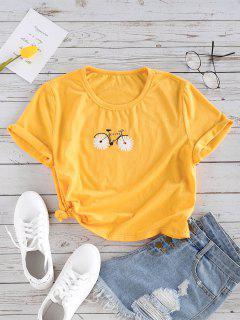 ZAFUL Camiseta Básica Con Estampado De Logo - Marrón Dorado Xl
