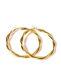 Twist 18K Gold Plated Hoop Earrings - Golden