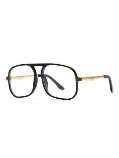 Occhiali Da Sole Quadrati Oversize Blu - Nero