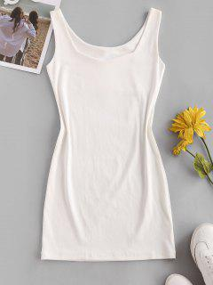 Mini Vestido Bodycon Com Alças - Branco