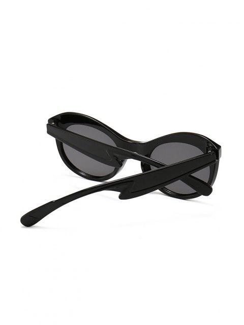 Anti UV Kitten Eye Sunglasses - أسود  Mobile