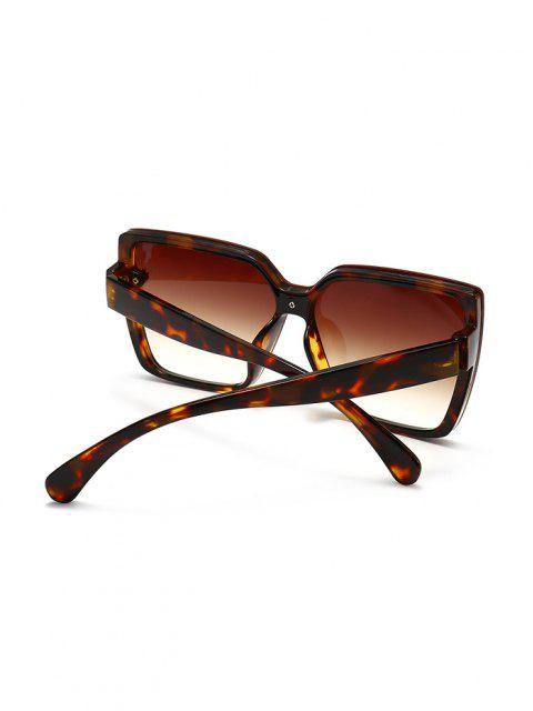 outfits Full Frame Clover Detail Square Ombre Sunglasses - LEOPARD  Mobile