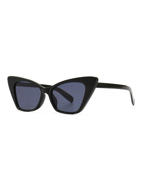 chic Full Frame Animal Eye Sunglasses - BLACK  Mobile