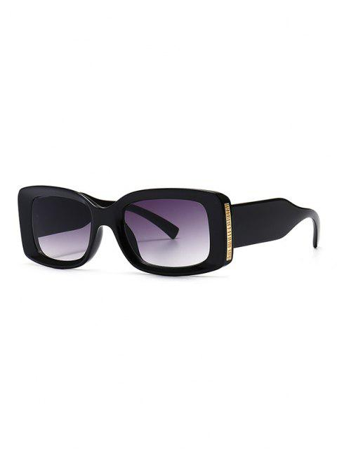unique Full Frame Metal Embellished Ombre Sunglasses - BLACK  Mobile