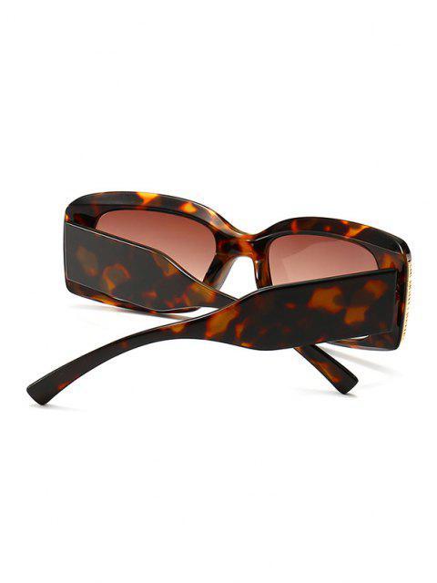 sale Full Frame Metal Embellished Ombre Sunglasses - LEOPARD  Mobile