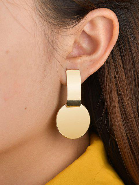 unique Geometric Exaggerated Stud Earrings - GOLDEN  Mobile