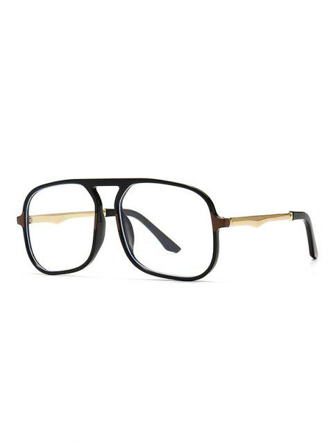 Oversized Anti Blue Light Square Glasses - أسود  Mobile