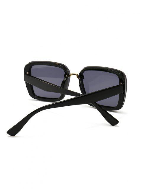 Vollformat Retro Quadrat Sonnenbrillen - Schwarz  Mobile