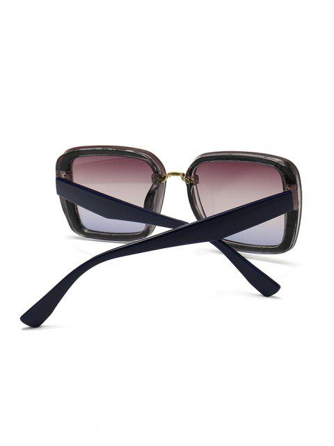 hot Full Frame Retro Square Sunglasses - MIDNIGHT BLUE  Mobile