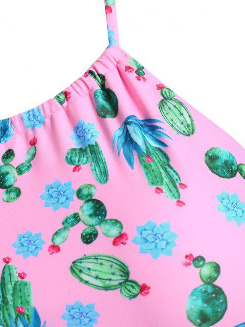 ZAFUL Conjunto de Biquíni Acolchoado de Impressão de Cacto - Luz rosa XL Mobile