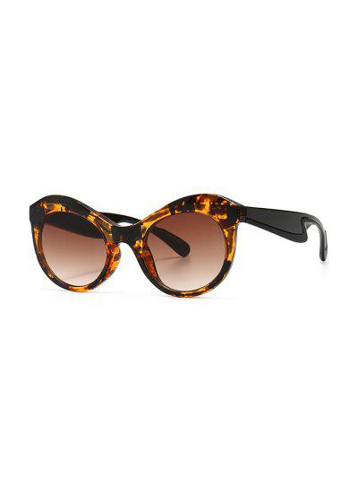 Anti UV Kitten Eye Sunglasses - Leopard