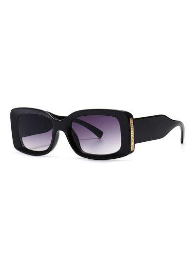 Full Frame Metal Embellished Ombre Sunglasses - Black
