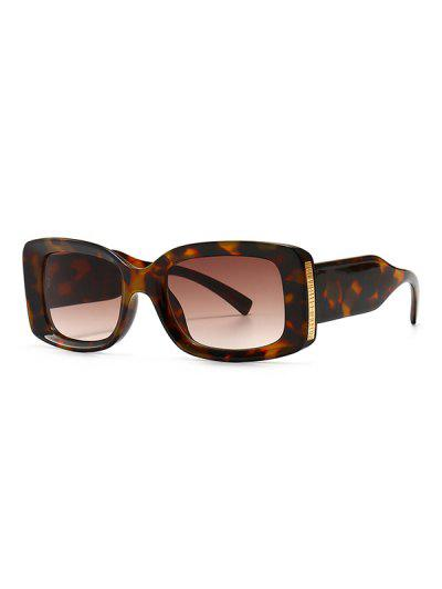 Full Frame Metal Embellished Ombre Sunglasses - Leopard