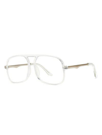 Oversized Anti Blue Light Square Glasses - Milk White