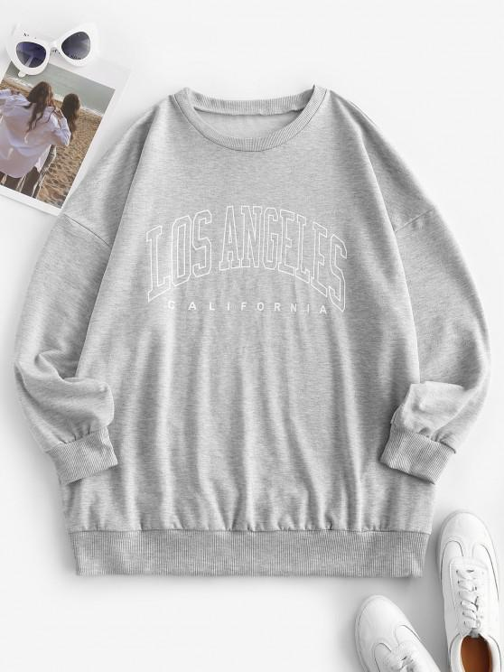 outfit Boyfriend LOS ANGELES Graphic Sweatshirt - GRAY M